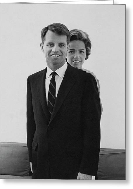 Robert F Kennedy And Wife Ethel Greeting Card by Cecil Beaton