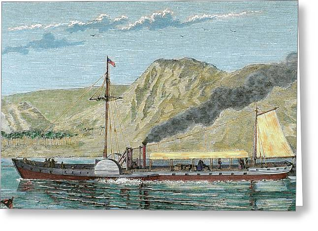 Robert Fulton's Steamboat Greeting Card by Prisma Archivo