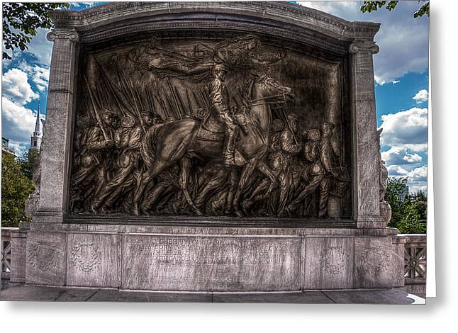 Robert Gould Shaw Memorial On Boston Common Greeting Card by Tom Gort