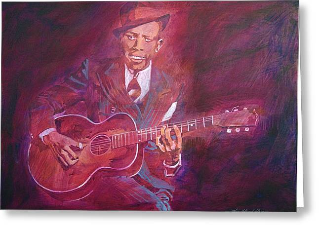 Robert Johnson Greeting Card by David Lloyd Glover
