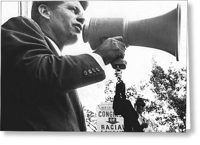 Robert Kennedy Greeting Card by Underwood Archives