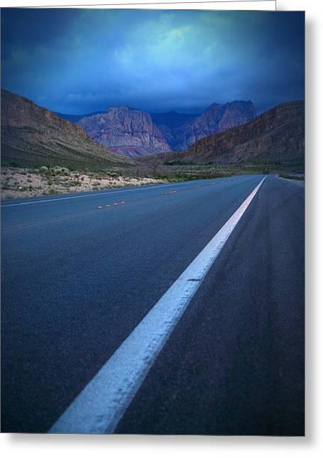 Robert Melvin - Fine Art Photography - Blue Diamond Storm Greeting Card