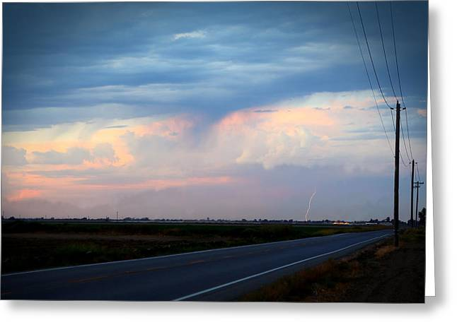 Robert Melvin - Fine Art Photography - County Road 98 Greeting Card