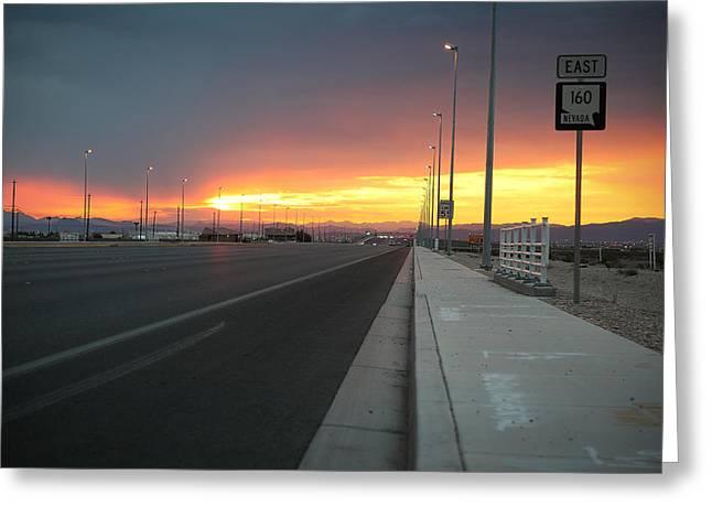 Robert Melvin - Fine Art Photography - Highway 160 At Dawn Greeting Card