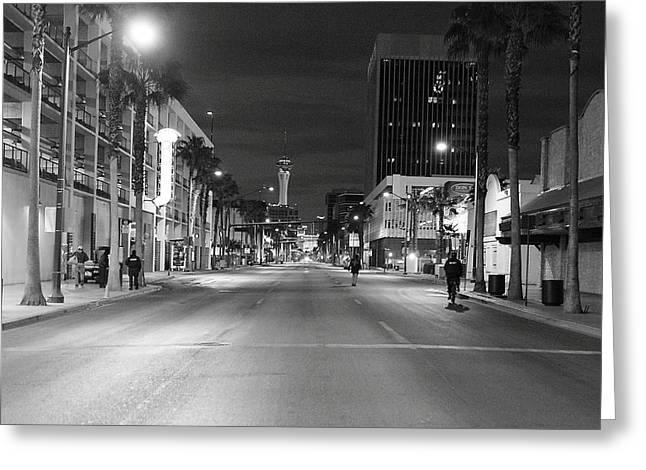 Robert Melvin - Fine Art Photography - Sin City - No Homeless Allowed Greeting Card