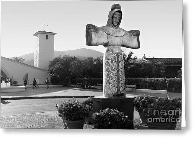 Robert Mondavi Napa Valley Winery . Black And White . 7d9046 Greeting Card by Wingsdomain Art and Photography