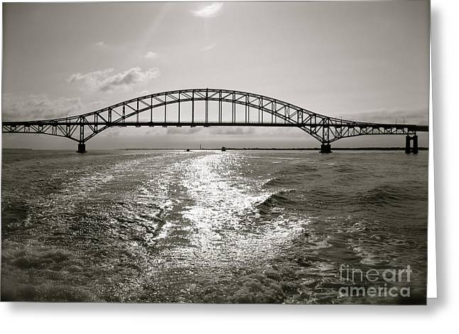 Greeting Card featuring the photograph Robert Moses Bridge by Paul Cammarata