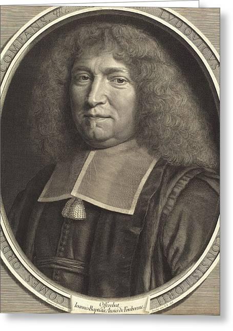 Robert Nanteuil, French 1623-1678, Chancellor Bouchert Greeting Card by Litz Collection