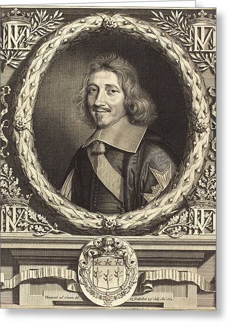 Robert Nanteuil, French 1623-1678, Chancellor Michel Le Greeting Card by Litz Collection