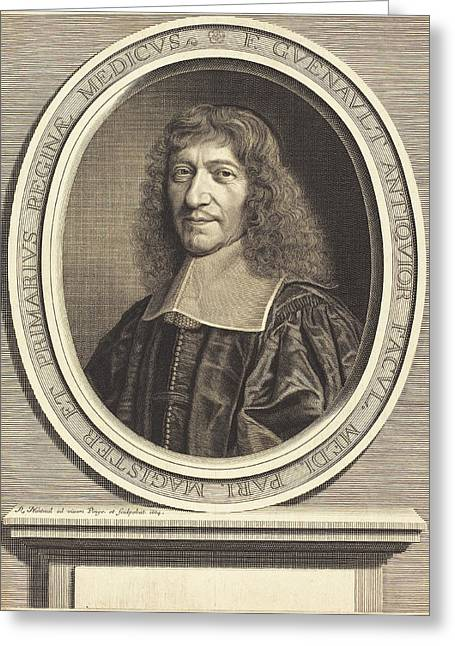 Robert Nanteuil French, 1623 - 1678, Francois Guenault Greeting Card by Quint Lox