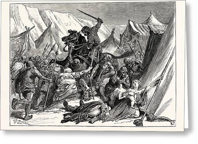 Robert Of Normandy Rallying The Crusaders Greeting Card