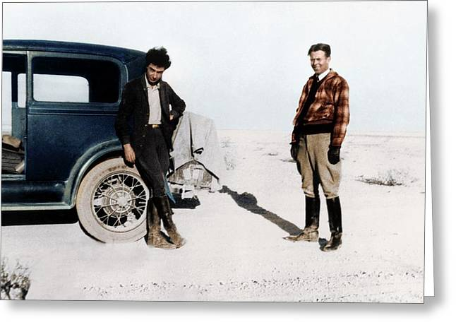 Robert Oppenheimer And Ernest Lawrence Greeting Card