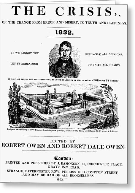 Robert Owen 'the Crisis Greeting Card by Granger