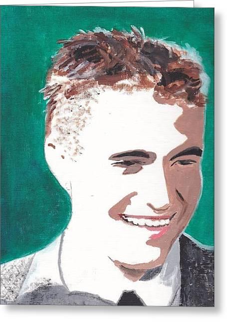 Robert Pattinson 146 A Greeting Card by Audrey Pollitt