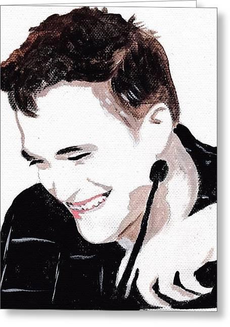 Robert Pattinson 184 Greeting Card by Audrey Pollitt