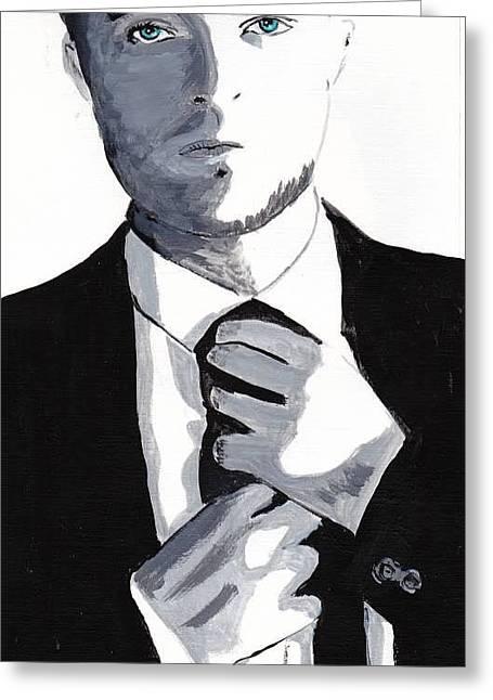 Robert Pattinson 80 Greeting Card