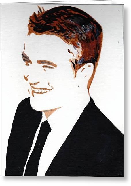 Robert Pattinson 87 Greeting Card