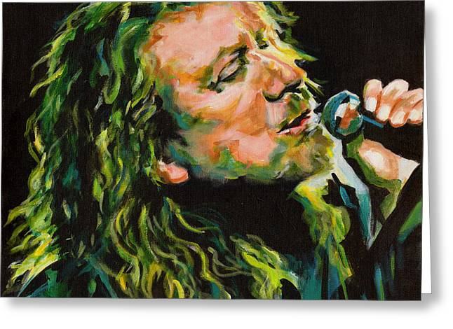 Robert Plant 40 Years Later Like Never Been Gone Greeting Card by Tanya Filichkin