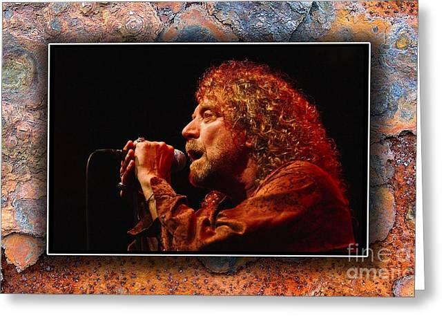 Robert Plant Art Greeting Card