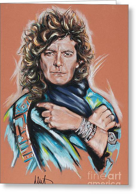 Robert Plant Greeting Card by Melanie D