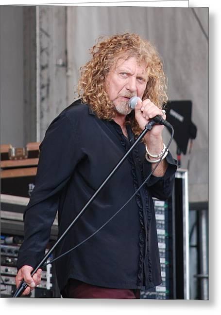 Robert Plant Greeting Card by Pamela Schreckengost
