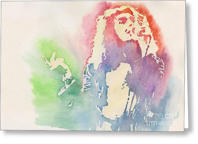 Robert Plant Greeting Card by Robert Nipper