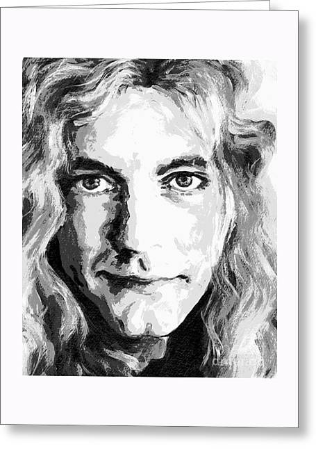 Robert Plant - Still The Best Greeting Card by Tanya Filichkin