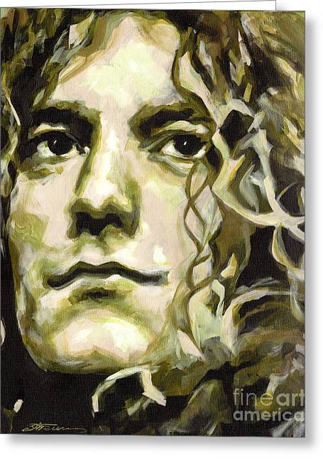 Robert Plant. Golden God Greeting Card