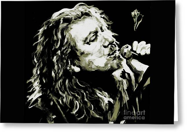 Robert Plant. The Lullaby And The Ceaseless Roar Greeting Card by Tanya Filichkin
