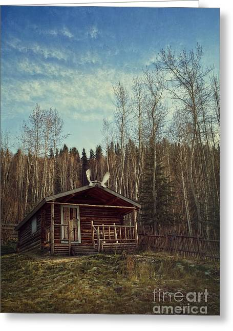 Robert Service Cabin Greeting Card by Priska Wettstein
