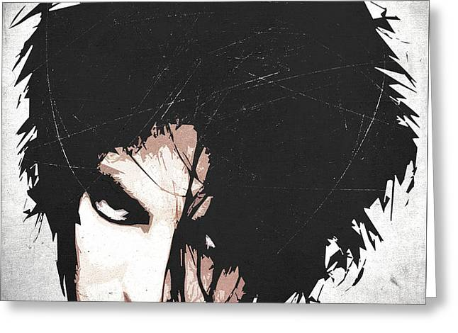 Robert Smith Greeting Card by Filippo B