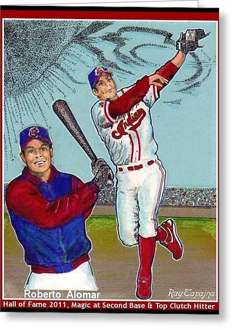 Roberto Alomar Hall Of Fame Greeting Card
