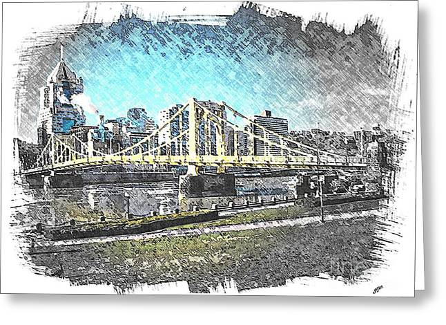Roberto Clemente Bridge Greeting Card by Spencer McKain