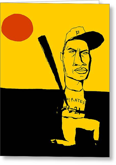 Roberto Clemente Pittsburgh Pirates Greeting Card