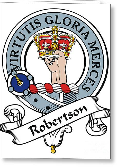 Robertson Clan Badge Greeting Card by Heraldry