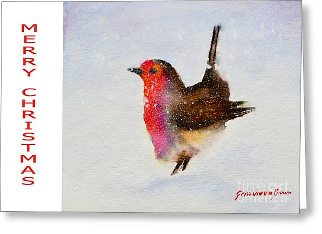 Robin Christmas Card Greeting Card by Genevieve Brown