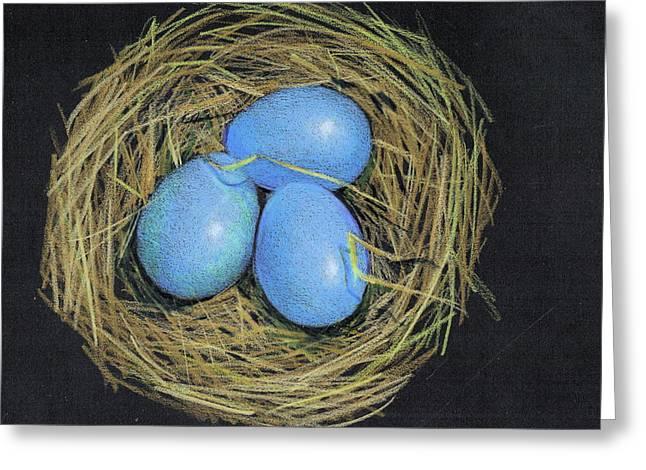 Robin Eggs In Nest Greeting Card by Joyce Geleynse