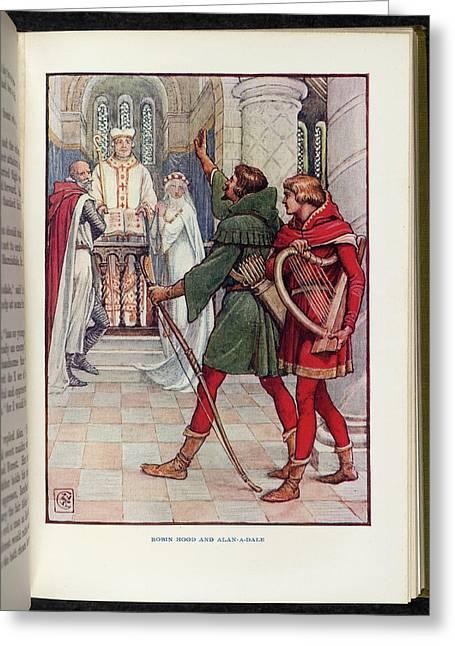 Robin Hood And Alan-a-dale Greeting Card