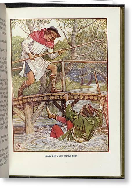Robin Hood And Little John Greeting Card