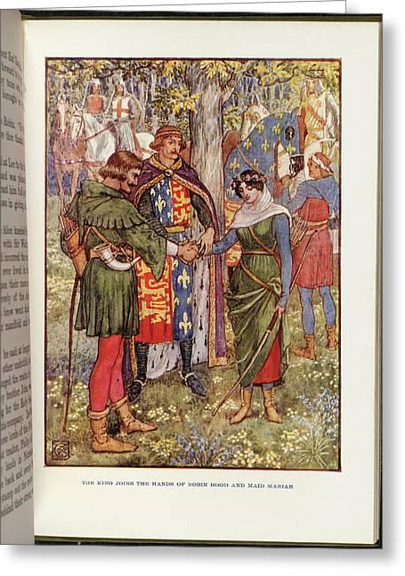 Robin Hood And Maid Marian Greeting Card