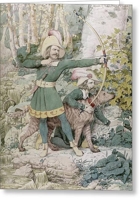 Robin Hood Greeting Card by Richard Dadd