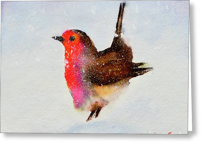 Robin Redbreast Greeting Card by Genevieve Brown