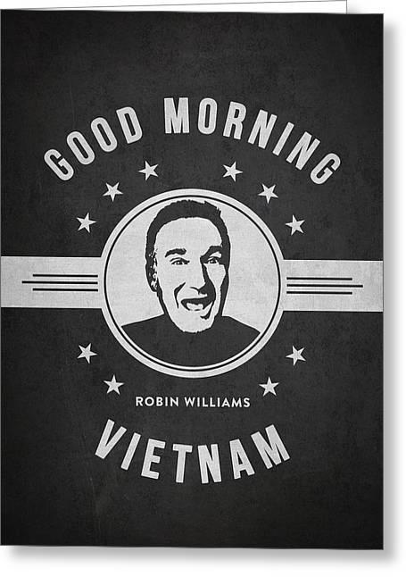 Robin Williams - Dark Greeting Card by Aged Pixel