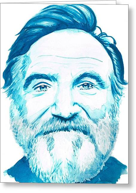 Robin Williams Greeting Card by Kyle Willis