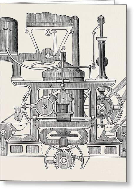 Robinson And Lees Patent Bread Making Machine Greeting Card by English School