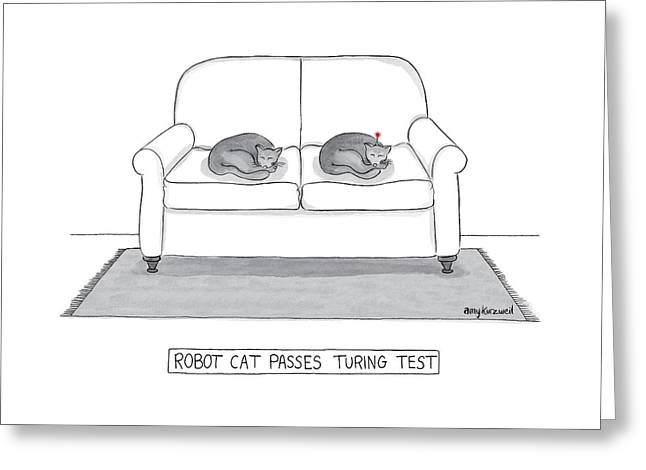 Robot Cat Passes Turing Test Greeting Card