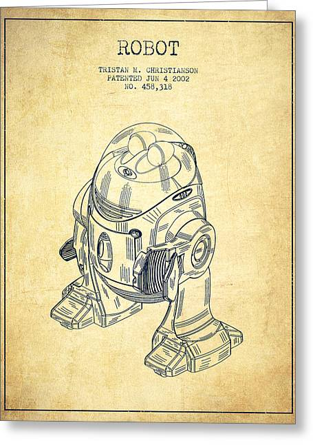 Robot Patent From 2002 - Vintage Greeting Card