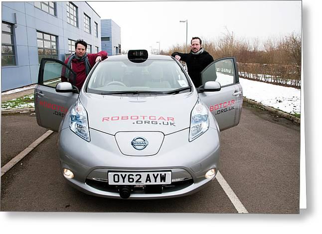 Robotcar Autonomous Car Greeting Card by John Cairns/oxford University Images