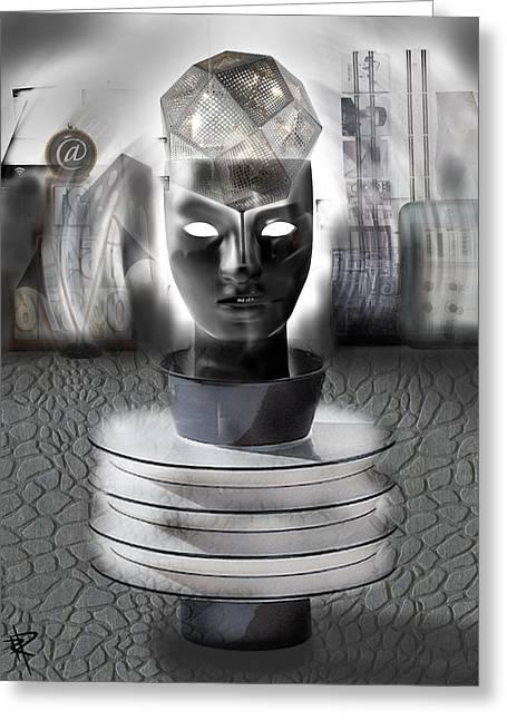 Robotic Visions Of Grandeur Greeting Card by Russell Pierce