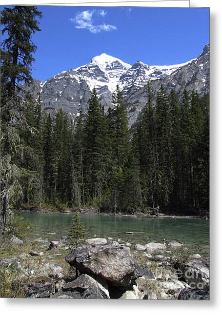 Greeting Card featuring the photograph Robson River - Canada by Phil Banks